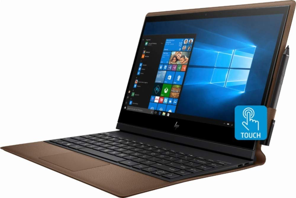 """HP - Spectre Folio Leather 2-in-1 13.3"""" Touch-Screen Laptop - Mini Notebooks"""
