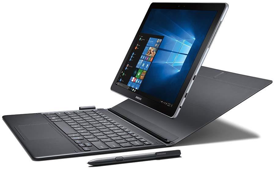 """Samsung Galaxy Book 12"""" Windows 2-in-1 PC (Wi-Fi) Silver - Mini Notebooks"""