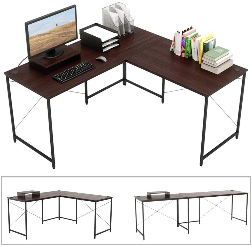 Bestier L-shaped Computer Corner Desk