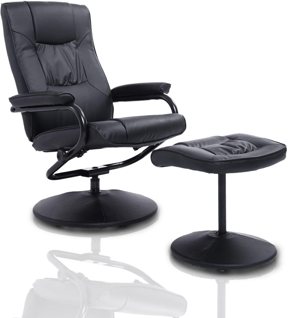 Homcom Ergonomic Faux Leather Lounge 833-029BK