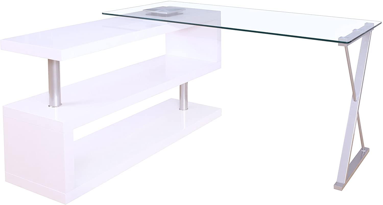 Acme Buck Clear Glass Office Desk