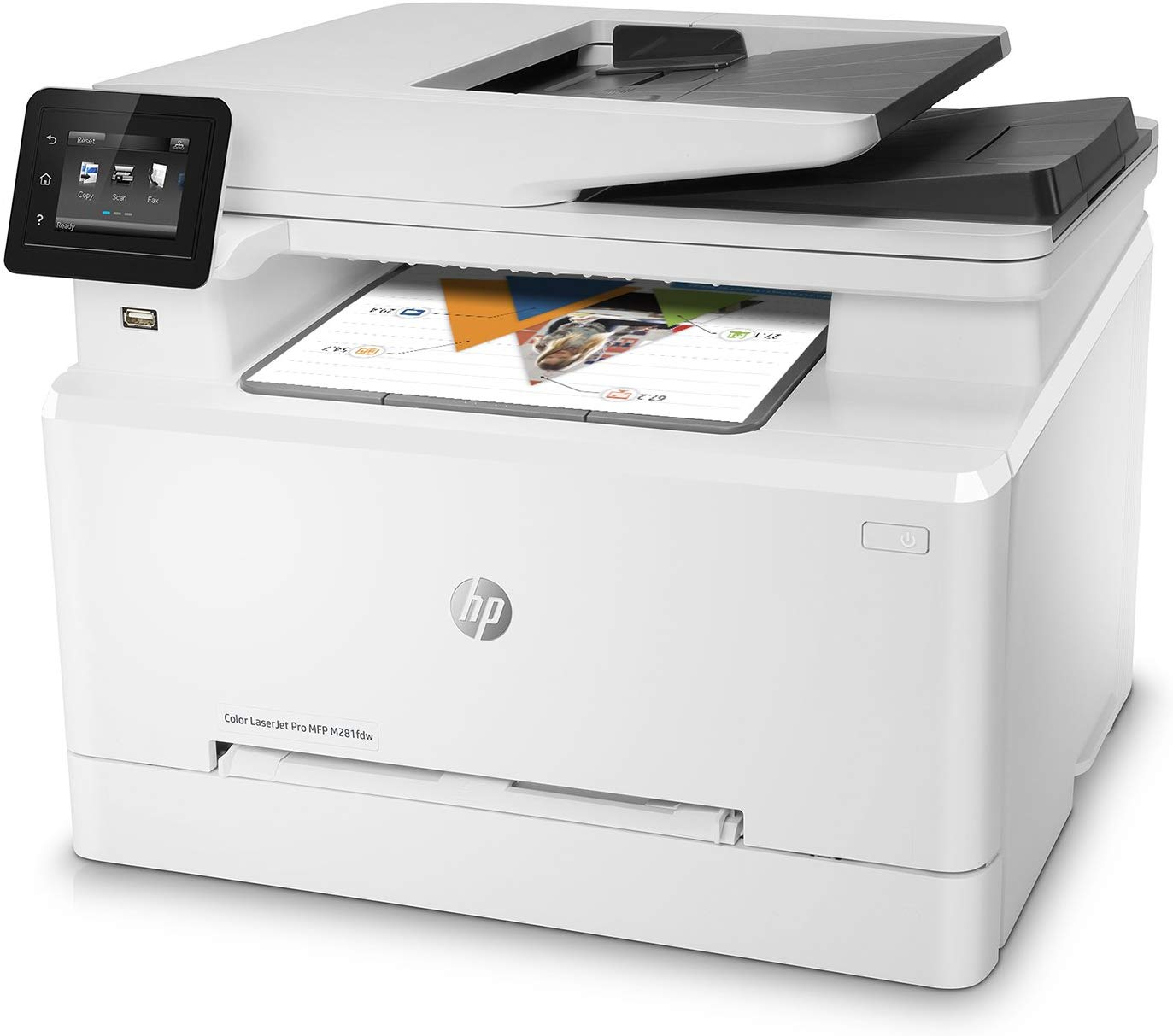 HP LaserJet Pro M281fdw All in One Wireless Color Laser Printer - Affordable Printers