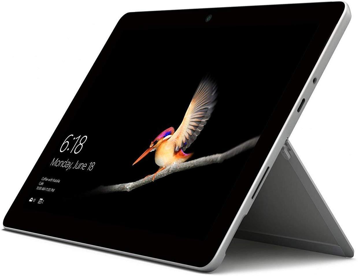 Microsoft Surface GO 10-Inch Tablet-PC - (Silver) (Intel Pentium 4415Y Gold Processor - Mini Laptops