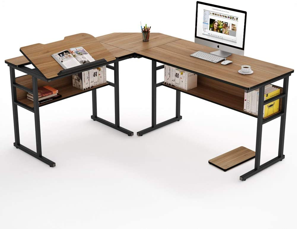 Tribesigns Modern L-shaped Corner Desk