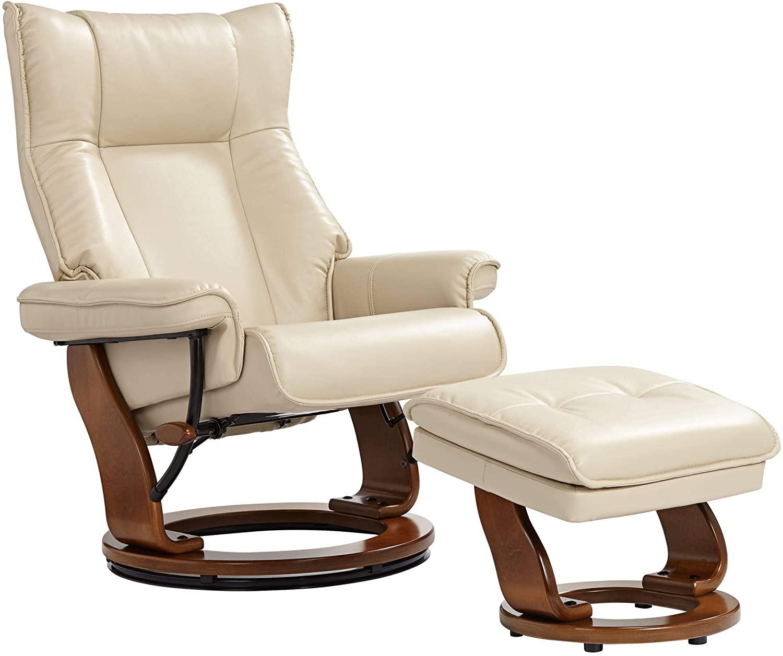 Morgan Stucco Faux Leather Swivel Armchair