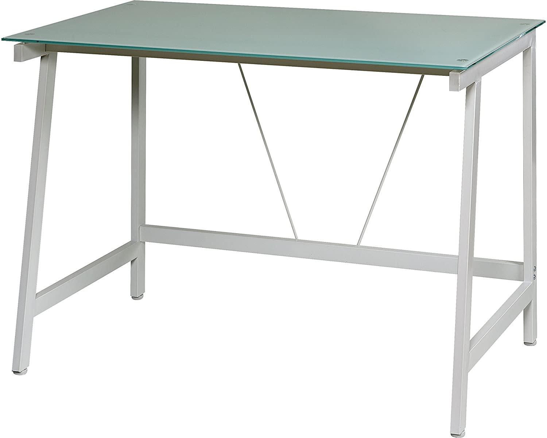 OneSpace Contemporary Glass Writing Desk