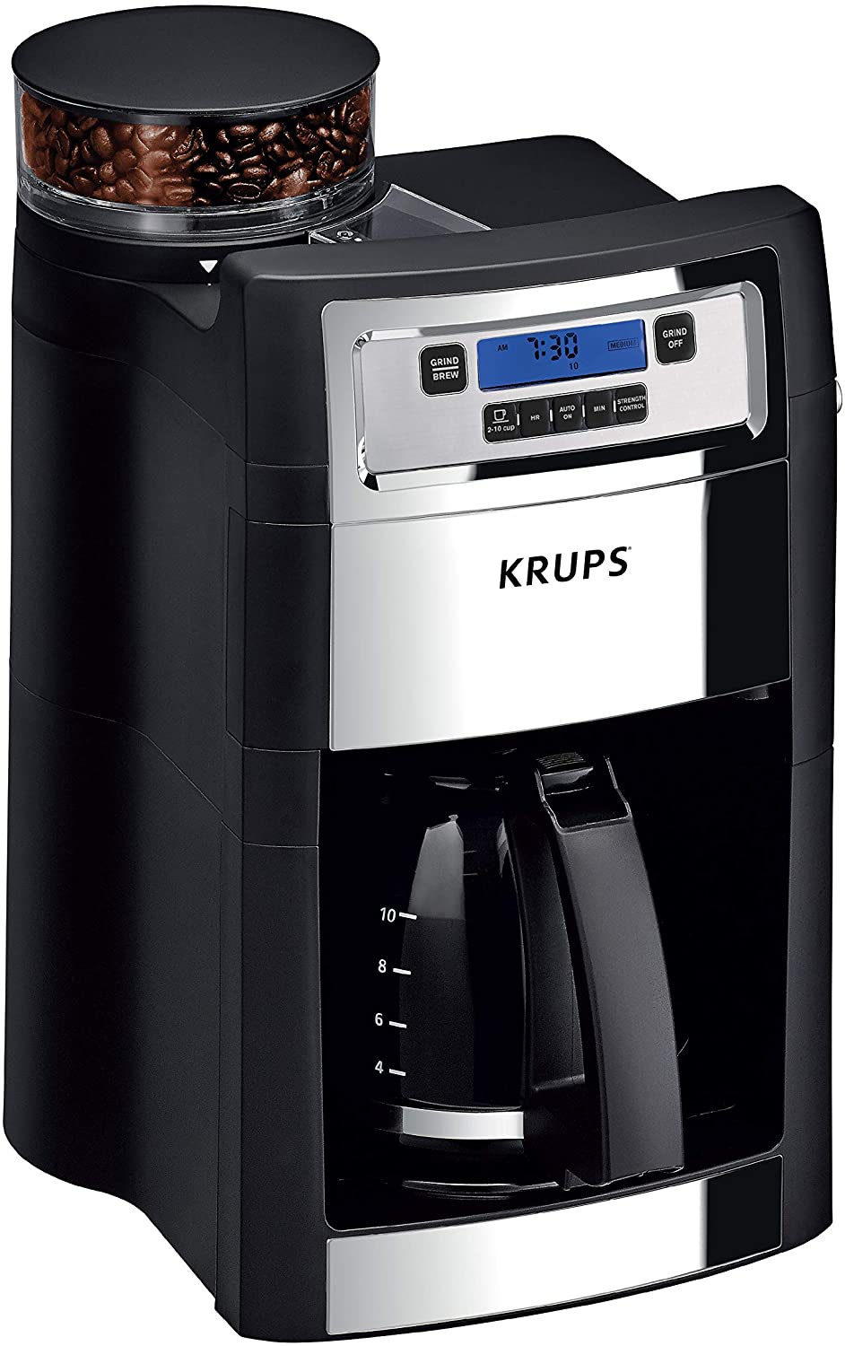 KRUPS KM785D50 Grind and Brew Auto-start Coffee Maker