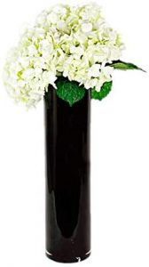 CYS EXCEL Hand Blown – Black Cylinder Vase