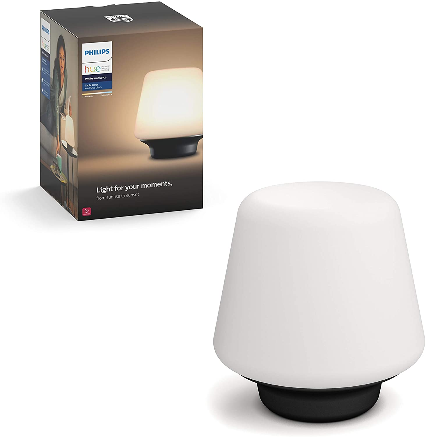 Hue White Ambiance with Wellness Dimmable Smart Lamp