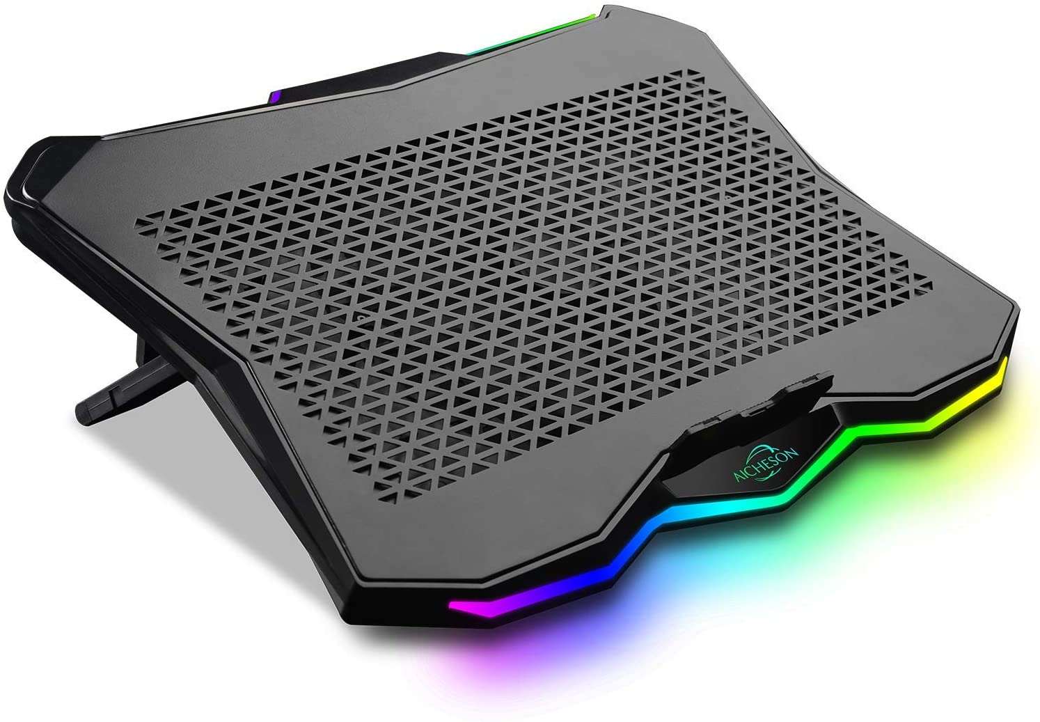 Laptop Cooling Cooler Pad with Rainbow Lights by AICHESON - Laptop Cooling Pads