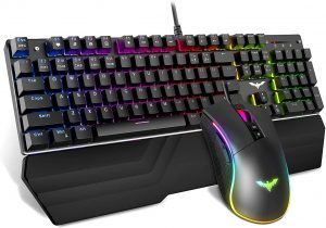 Blue Switch Mechanical Keyboard and Mouse by Havit - Keyboards