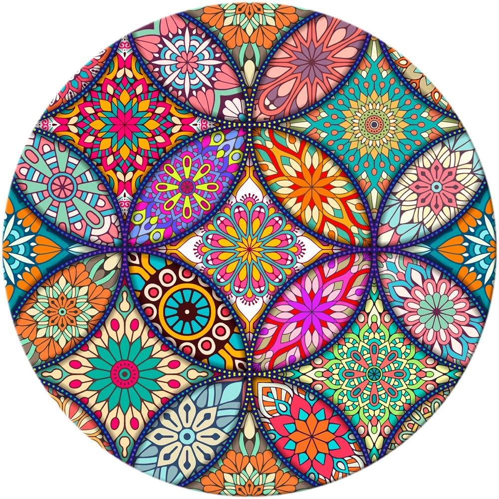 Round Mandala Mouse Mat by BOSOBO
