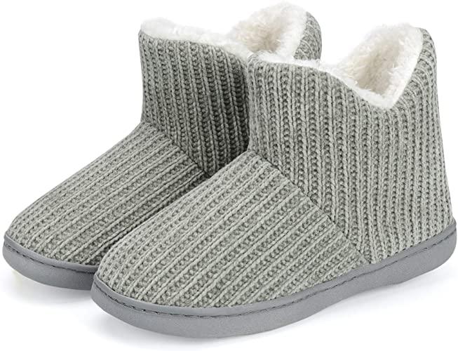 TUOBUQU Women's Slipper Boots