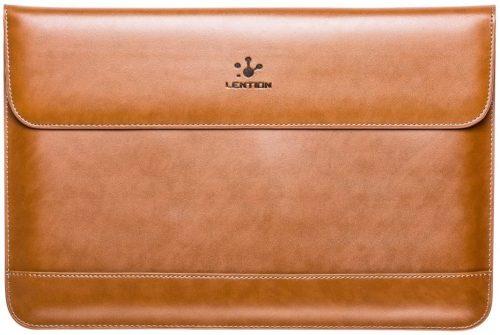 LENTION Split Leather Sleeve Case