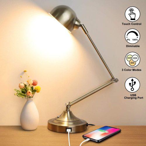 LED Desk Lamp with USB Charging Port