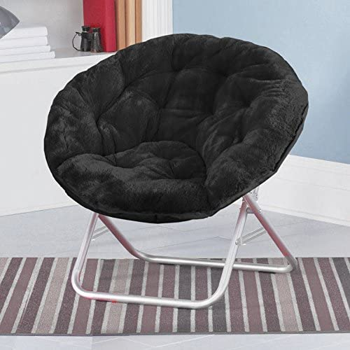 Mainstay Faux-Fur Saucer Chair