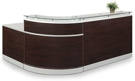 Esquire Glass Top Laminate desk