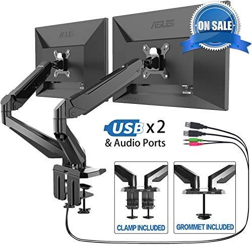 FEZIBO Dual Monitor Stand - Monitor Desk Mount