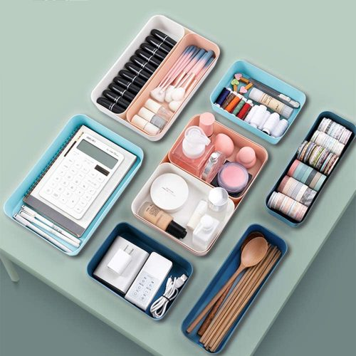 12 Pcs Stackable Drawer Desk Organizer