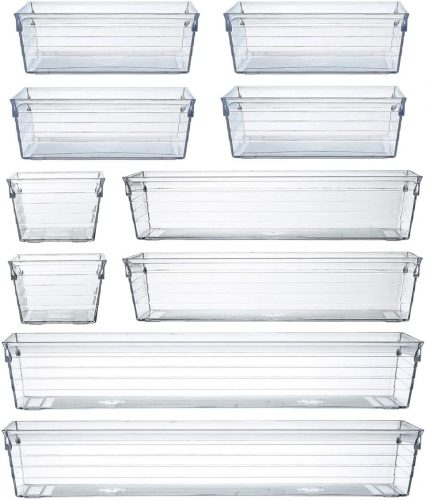 BYCY Clear Desk Drawer Organizer