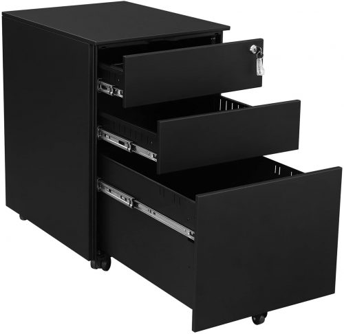 SONGMICS Steel File Cabinet 3 Drawer