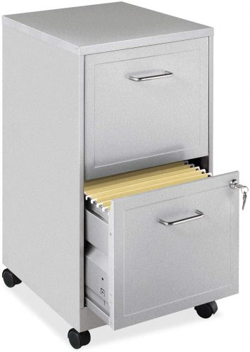 Lorell 16873 Mobile 2 Drawer File Cabinet