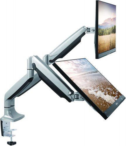 TechOrbits Dual Monitor Mount Stand
