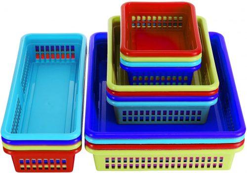 DilaBee 16 pack Storage Basket - Plastic Storage Baskets