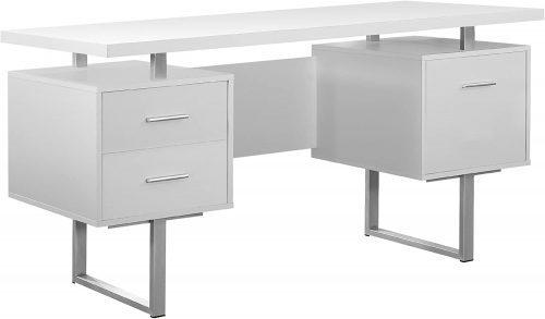 Monarch Specialties White Hollow-Core Office Desk