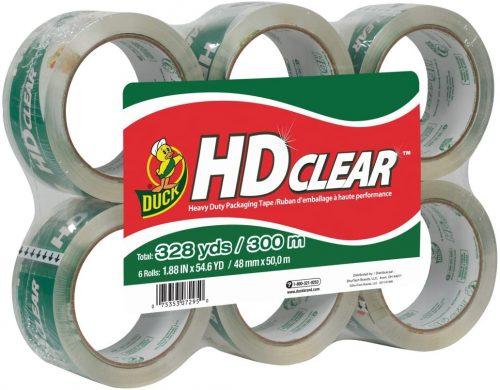 Duck HD Clear Heavy Duty Packing Tape