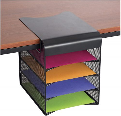 Safco Products Onyx Mesh 4-Tray Under Desk