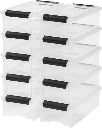 IRIS USA TB-35 Storage Basket - Plastic Storage Baskets