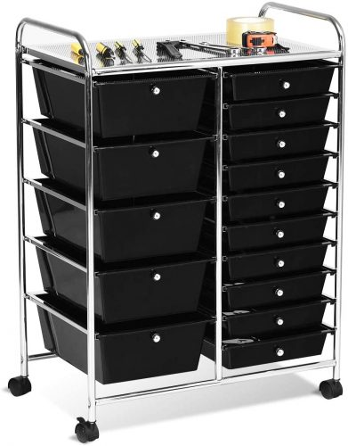 Giantex Rolling Storage Cart with Drawer - Rolling Carts with Drawers