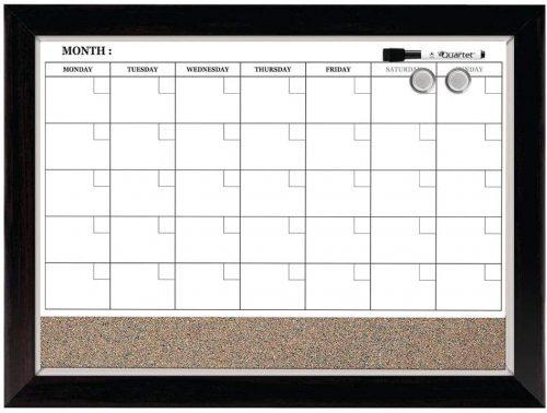 Quartet Combination Magnetic Whiteboard Calendar - Whiteboard Calendars