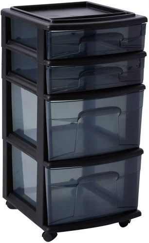 HOMZ Cart - Plastic Storage Drawers
