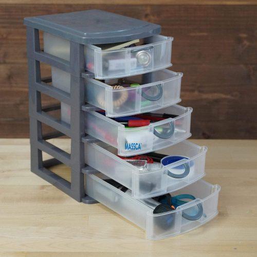 Massca Storage Drawers and Personal Organizer - Plastic Storage Drawers