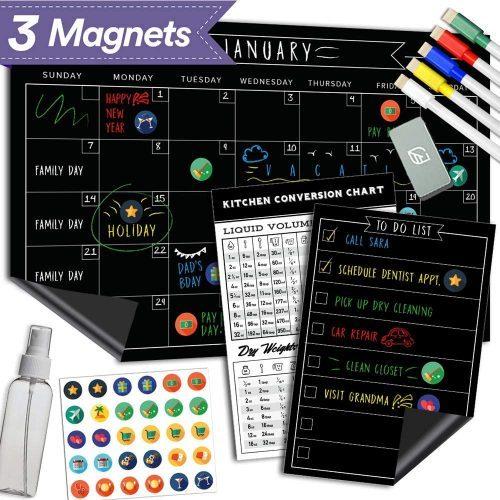 Magnetic Dry Erase Chalkboard Calendar - Whiteboard Calendars