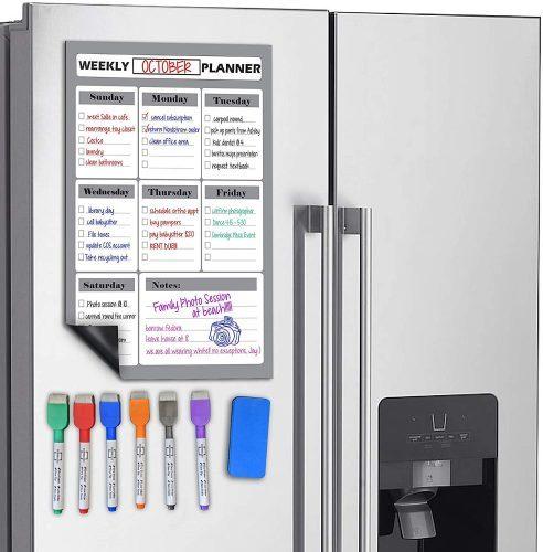 Scribbledo Magnetic Dry Erase Weekly Planner White Board Sheet - Weekly Planner Whiteboards