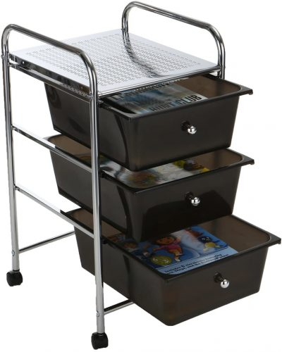 Mind Reader Rolling Storage Cart with Drawers - Rolling Carts with Drawers