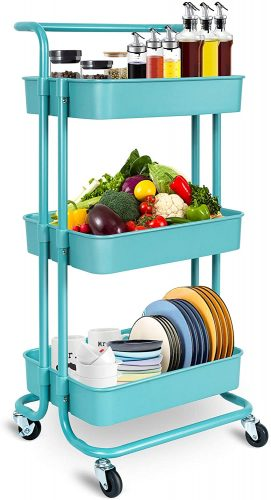 NiDream Rolling Storage Cart - Rolling Carts with Drawers