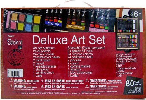 Darice 80-Piece Deluxe Art Set - Drawing Sets