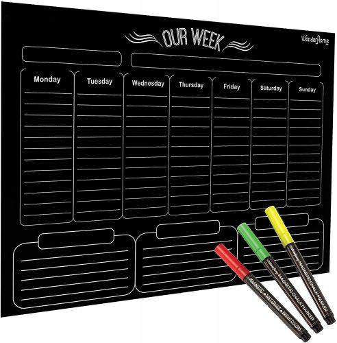 WonderHome Pro Weekly Magnetic Calendar - Weekly Planner Whiteboards