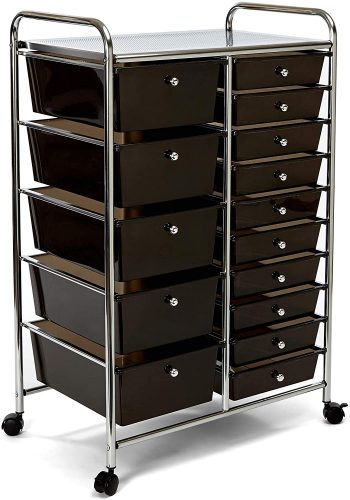 Seville Classics Multipurpose Mobile Storage Cart - Rolling Carts with Drawers