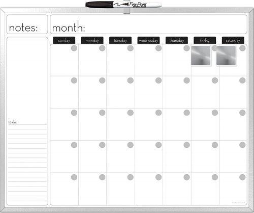 The Board Dudes Dry Erase Calendar - Whiteboard Calendars