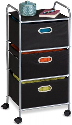 Honey-Can-Do Rolling Storage Cart - Rolling Carts with Drawers