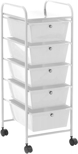 Urban Shop Rolling Cart with Drawer - Rolling Carts with Drawers