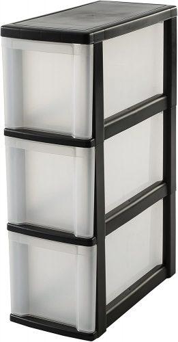 Iris Ohyama Storage Unit on Wheels - Plastic Storage Drawers