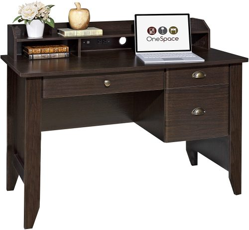OneSpace Executive Desk - Desks with File Cabinet