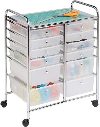 Honey-Can-Do Rolling Storage Cart and Organizer - Plastic Storage Drawers