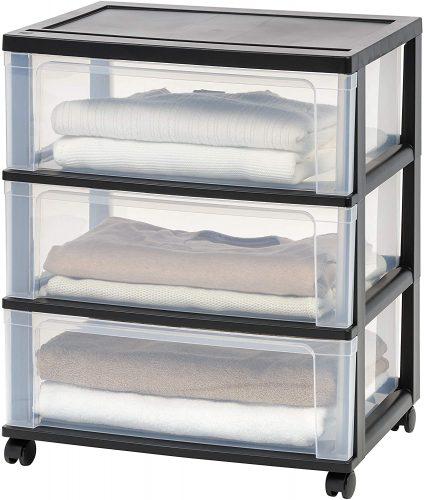 IRIS Drawer Wide Chest - Plastic Storage Drawers